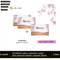 KlinSkin Beauty Shop sabun pemutih wajah dan tubuh original - 1 Pcs