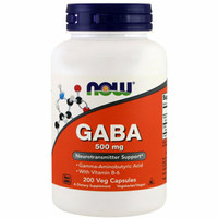 NOW FOODS GABA 500 mg, 200 Veg Caps