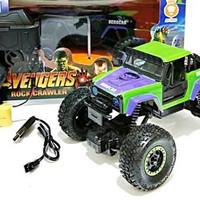 Mainan Mobil Remote Control Rock Crawler Avengers Hero Car Super Climb