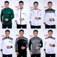 Baju Koko Pria Lengan Panjang   Kemeja Pria Kombinasi Batik Murah