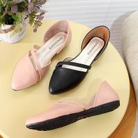 Sepatu Sandal Wanita Fashion Teplek Kulit BK05