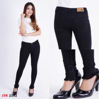 celana panjang wanita cutbray jeans jsk kaki rumbai - Hitam, 27
