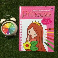Buku Mewarnai Princess untuk umur 2-3 tahun