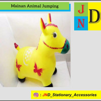 Mainan Anak Jumping Animal Music / Mainan Tunggang / Mainan Kuda Karet