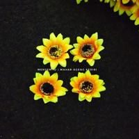 bunga matahari kecil bahan dekorasi mahar