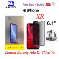 MAXFEEL Tempered Glass 3D Anti Spy AntiSpy Iphone XR Premium Glass