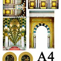gambar masjid hiasan mahar free mesin jam