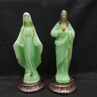 Patung Yesus Patung Maria Fosfor menyala dalam gelap