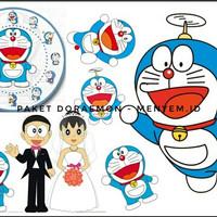 gambar doraemon untuk dekorasi mahar free jam