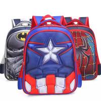 tas ransel backpack sekolah anak Captain America timbul 3D anti air