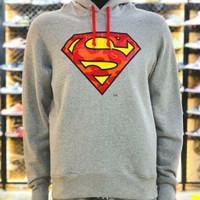 BAPE X DC SUPERMAN PULLOVER HOODIE - GREY