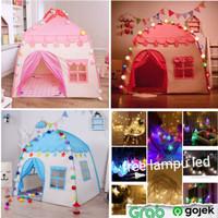 Tenda Bermain anak / Rumah Istana Anak free lampu LED(selama stok ada)