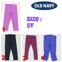 Celana lpanjang legging 7/8 anak perempuan 5 tahun branded old navy