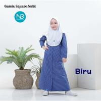 Gamis Square Anak 6 8 10 Tahun Baju Muslim Katun Kotak Perempuan Nubi