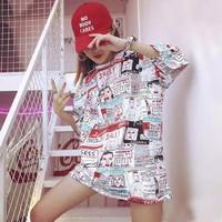 Kaos wanita OVERSIZED shirt fashion Korea