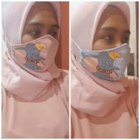 masker kain printed Dumbo