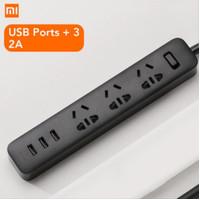 Stop Kontak Xiaomi Mi Smart Power Strip Colokan 3 plug USB Port 2A