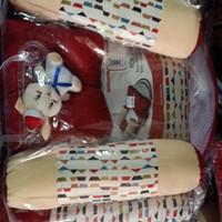 Kasur bayi lipat cintaka dengan kelambu bantal boneka set sailor