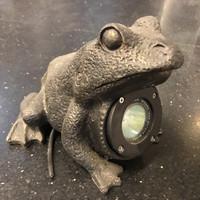 Lampu Taman Lantai Outdoor Frog hitam