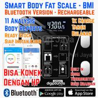 Timbangan Badan Digital Smart Body Fat BMI Bluetooth Rechargeable