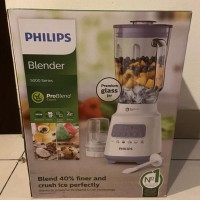 HR 2222 Philips blender kaca + penggiling kering warna Lavender