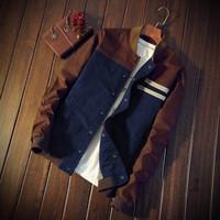 Jaket Baseball / Sweater Pria Cotton Drill Premium - DRB 002