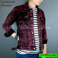 Jaket Jeans Sandwash warna baru / Jaket Denim warna / Jeans Color
