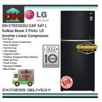 KULKAS BESAR 2 PINTU LG GNC702SGGU INVERTER LINEAR COMPRESSOR NEW 2020