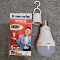 Lampu LED hannochs genius emergency / magic ac dc 6w 6 watt w