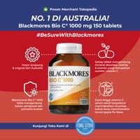 Suplemen vitamin C BLACKMORES 1000mg 150 tablet 100% Australia