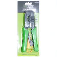 tekiro plug crimper 3in1 stripping crimping tools rj45 kabel lan & tlp