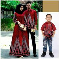 batik couple baju keluarga set anak cowok baju batik sarimbit terbaru