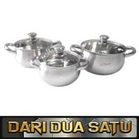 1 Set Panci Sup Soup Pot Stainless 3 pc