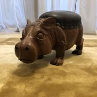 Stool Hippo / Kursi Duduk Mini Kayu Hippo / Interior Decor / Bench - Big