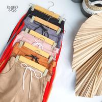 Celana panjang wanita santai PSBB kulot Emikoawa - Free Scarf