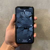 iphone xr 64gb second original warna space gray 99%mulus