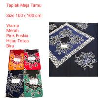 taplak meja tamu batik motif - Slide 2 Merah