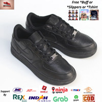 Sepatu Nike Air Force 1 Full Black Original BNWB - Sneakers Original