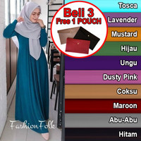 Gamis jersey premium polos Busui fit to XL