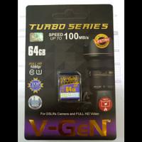 Memory Camera V-GeN Sd Card 64gb Turbo Series
