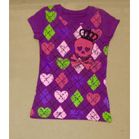 Kaos anak purple crown