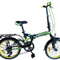 Sepeda Lipat Element 20 inch Shimano 7 Speed Folding Bike Suspension