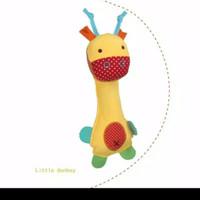 Mainan Remas Bayi Boneka Kerincingan Plush Rattle BELL & SQUEEZE Baby