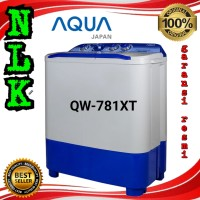 mesin cuci AQUA JAPAN QW781XT 7kg 2 tabung semi auto washer