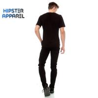 Hipster celana jeans warna hitam pekat