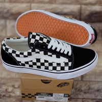 VANS OLDSKOOL V36CL+ CHECKERBOARD BLACK WHITE JAPAN MARKET