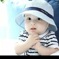 Topi Bucket Bayi Pelindung Panas Matahari Newborn Casual Summer Fashio