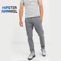 Hipster celana panjang chino besar big size warna ABU