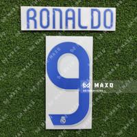 [ NAMESET ] JERSEY REAL MADRID RETRO HOME 2006/2007 RONALDO LEGEND
