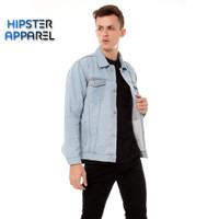 Original jaket jeans hipster warna biru muda - Biru Muda, M